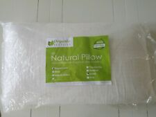 Organic Latex Pillow with Organic Cover, Queen-Soft