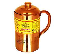 Handmade Copper Jug Pitcher 1500 ml Water Storage Drinking Home Hotel Restaurant