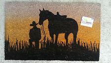 Horse Silhouette - Natural Coir Pvc Backed Door Mat or Wall Art