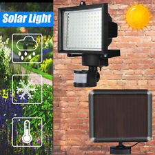 60 LED Solar Powered Light Motion Sensor Security Outdoor Garden Wall Lamps