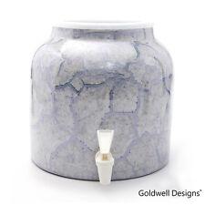 Goldwell Designs Porcelain Ceramic Water Dispenser Crock - Grey Marble DM221