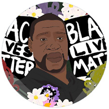 48 Personalised BLACK LIVES MATTER Stickers 40mm