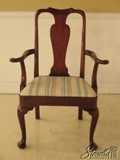 28723: KITTINGER Queen Anne Mahogany Open Arm Chair