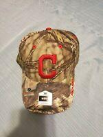 Cleveland Indians Mens Mossy Oak Baseball Cap MLB Adjustable Hat by Fan Favorite