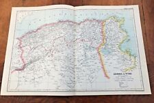 1900s double page map from g.w. bacon - algeria & tunis