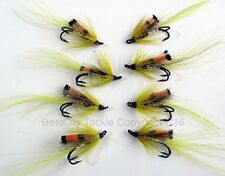 Salmon Flies ALLYS SHRIMP YELLOW Doubles size 4/10 Pack of EIGHT #160