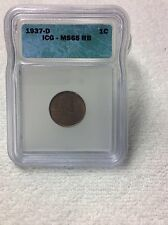 1937-D ICG-MS65 RB LINCOLN WHEAT CENT