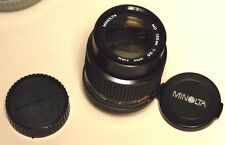 MINOLTA  MD 135MM LENS--WITH BOTH CAPS