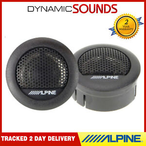 """ALPINE SXE-1006TW 1"""" 3cm 280 Watts Car & Van Dome Tweeters Speaker Set Pair"""