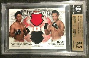 GEM MINT 2012 UFC Bloodlines Dual Fighter Relics AKIYAMA/OKAMI/88 BGS 9.5