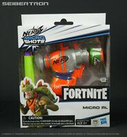 NERF FORTNITE MICRO RL MicroShots Dart-Firing Toy Blaster 2 Elite Darts IN STOCK