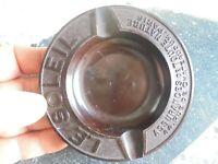 Ancien cendrier Bakelite Bakelit Ash Tray Cie d Assurance LE SOLEIL Aschenbecher