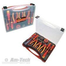 S9Q1-AM-Tech 11 Pezzi Elettricista Strumento Set 1000VAC & 1500VDC ISOLATO EN60900