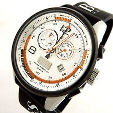 NIB Hugo Boss Regatta Silver Dial Black Rubber Mens Watch 1512501 MSRP $ 575
