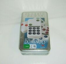 NEW Sealed Classic Games Dominoes Double Nine Color Dot Cardinal Collector Tin