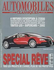 AUTOMOBILES CLASSIQUES n°118 NOVEMBRE 2001 MASERATI SPYDER ARIEL ATOM ASTON20-20
