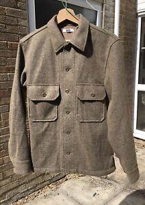 Uniqlo U Lemaire Mens Fleece Khaki Green Brown Overshirt Size XXS (fits XS) RARE
