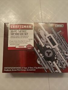 Craftsman 39 Piece Metric Tap and Die Set With Case, 52383
