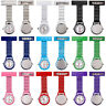 Metal Clip On Pocket Quartz Analog Brooch Medical Nurse Tunic Fob Watch Gracious