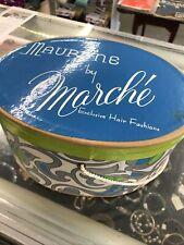 Mauryne By Marche Vintage Cardboard Wig Hair Fashion Box Mod 1960's Rare