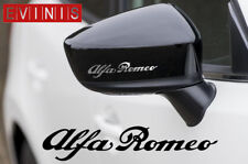 ALFA ROMEO SILVER VINYL SYMBOL MIRROR DECALS STICKERS GRAPHICS x2