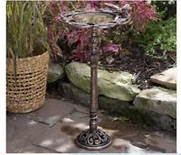 Outdoor Bird Bath Garden Patio Backyard Decor Yard Bowl Metal Birdbath Dish NEW