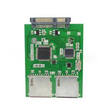 2 porte doppio SD SDHC MMC RAID a SATA ADATTATORE CONVERTITORE senza
