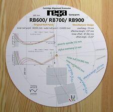 Rega RB600/RB700/RB900 Custom Designed Tonearm Cartridge Alignment Protractor