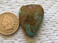 Crow Springs Turquoise Cabochon 27 carats American Cab Nevada USA Blue Green
