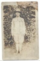 World War One Soldier Woven Post Card Circa 1900s