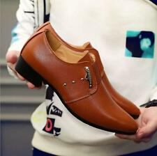Men's Shoes Fashion Pointed Toe Business Casual Leather Comfortable Dress Shoes