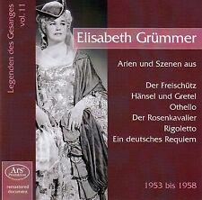 ELISABETH GRÜMMER : LEGENDEN DES GESANGS 11 - LEGENDÄRE AUFNAHMEN 1953-1958 / CD