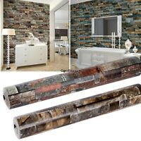 Natural Simplicity 3D Brick Stone Wallpaper Roll Textured Art Wall Paper