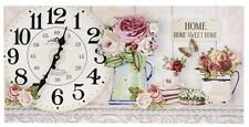 Grand Rectangle Canvas Vintage Horloge Murale