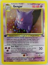 Gengar Pokemon Card Holo Fossil 1st Edition 5/62 1999 Ungraded Excellent Rare
