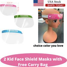 2 pcs Kids Face Shield Protective Children Reusable Washable No Fog Mask Visor