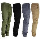 Casual Trousers Slim Fit Elastic Men's Twill Jogger Pants Urban Hip Hop Harem