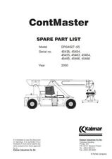 KALMAR CONTMASTER SPARE PART LIST DRS4527-S5 MANUAL REPRINTED 2000 COMB BOUND