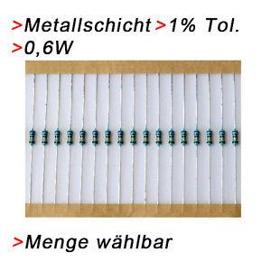 10 K Ohm Metallschicht Metallfilm Widerstände | 0,6W | 1% | 20/50/100 Widerstand