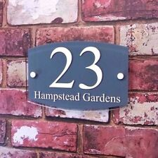 Handmade House Name Modern Decorative Plaques & Signs