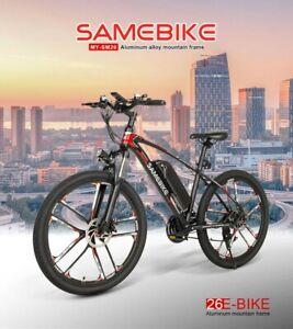 🇺🇸USA Stock SameBike 48v-350w Cycling electric mountain Bike 21 speed