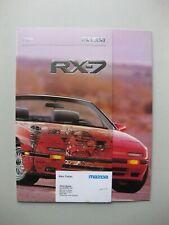 Mazda RX-7 prestige brochure Prospekt text English 20 pages 1988 Canada