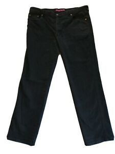 Mustang Mens Black Denim Stretch Jeans Size 107S regular Fit