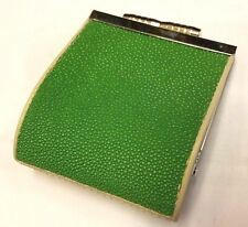 Genuine Stingray Wallets Skin Leather Women's Coin Bags Purses Green Handmade