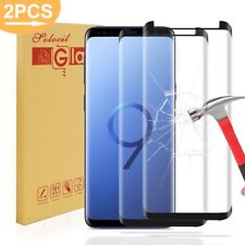 2-Pack Samsung Galaxy S9/S9 Plus 3D Curved Glass Screen Protectors 9H Clear