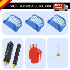 Pack 7 en 1 iRobot Roomba serie 600 3 filtros 2 rodillos cepillo Limpiador.630