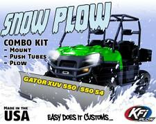 """JOHN DEERE GATOR XUV 550 S4 2012-2015 -  KFI UTV 72"""" Snow Plow Combo Kit"""