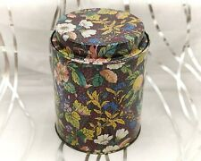 More details for whittard-stunning colourful floral chintz-vintage tea tin/caddy