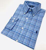 Ralph Lauren Men's Performance Check Shirt In Blue/White