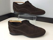 Tods Mens Brown Suede Shoes, Size Uk 6 Eu40, Lace Up Vgc